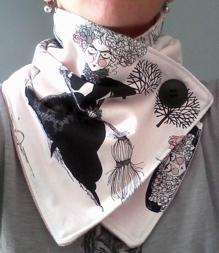 tour de cou écharpe halloween scarve neck warmer