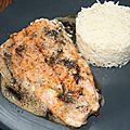 Filet de saumon à la plancha sauce beurre au feuilles de fenouil