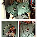 COUSSIN jack russell chien peints à la main acrylique valerie albertosi