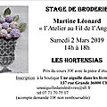 Stage broderie à chateauroux