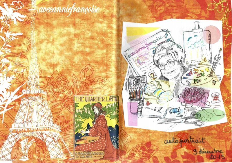art journal, autoportrait
