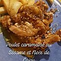 Poulet🐔 caramélisé au sésame et noix de cajou