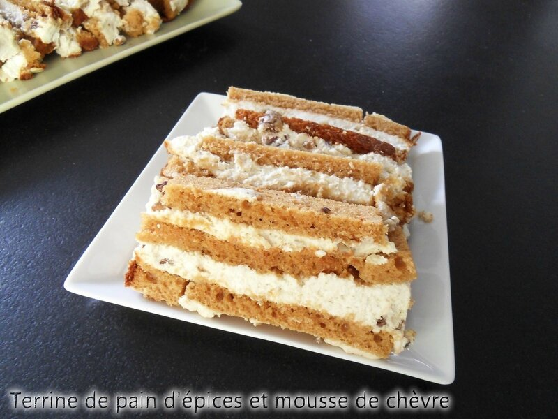 terrine pain d'épices mousse de chèvre
