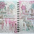 Art journal merry christmas et happy new year., mixed media.