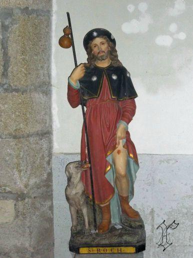 20_église GOLINHAC_statue St Roch