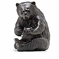 Atsuyoshi for the maruki company, a bronze sculpture of a bear, meiji era (1868–1912), late 19th–early 20th century