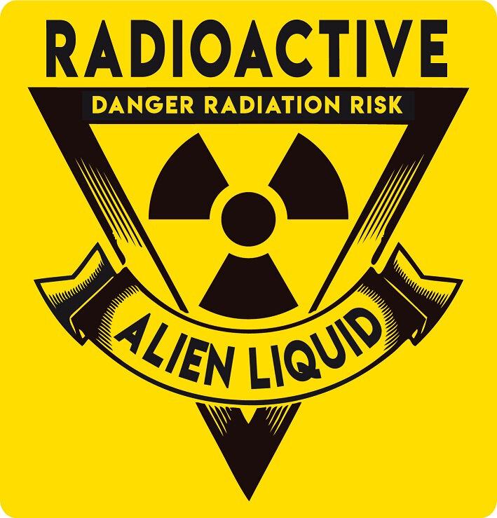 label alien liquide radioactive zombie virus