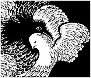 corbeau-et-colombe