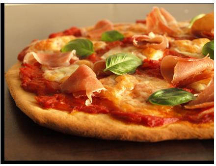 Pizza jambon fumé mozzarella