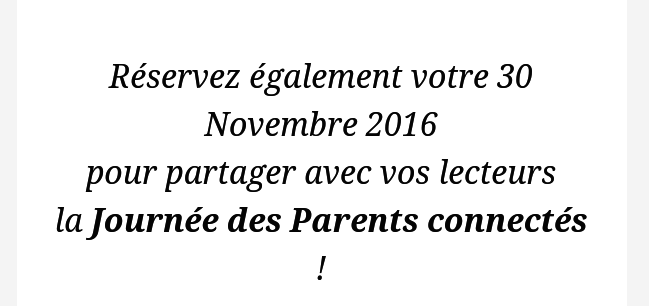 invit parents connectés