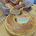 Couronne de pain brioche maison au lait