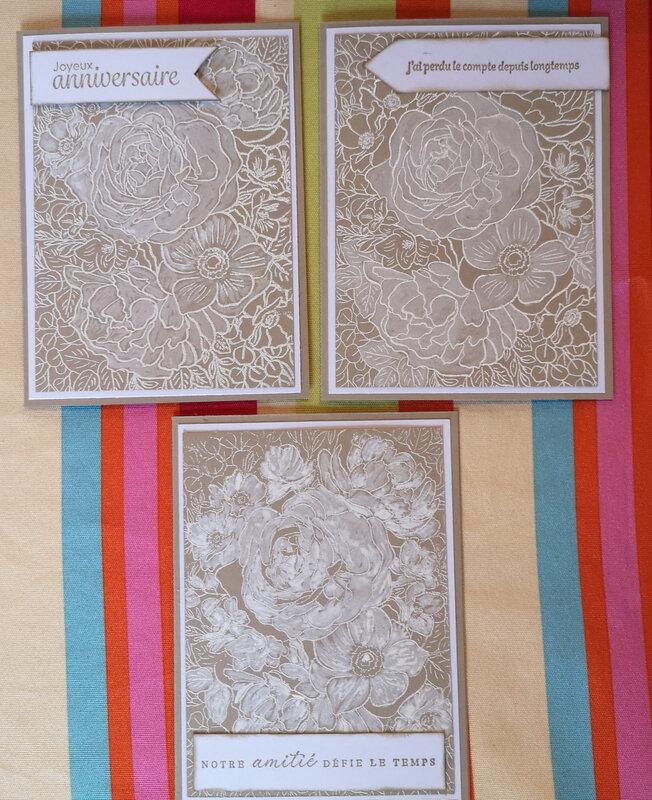 30b Cartes Breathtaking Bouquet Lavis blanc
