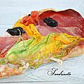 Pizza aux fleurs de courgette