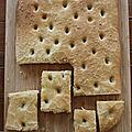 Les pains du confinement – la focaccia
