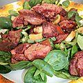 Salade aux foies de poulet