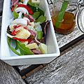 Salade gourmande aux gésiers et aux pommes