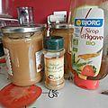 Compote pomme/rhubarbe épicée (douce)