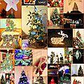 Montage photos du groupe de l'atelier thème Noël.