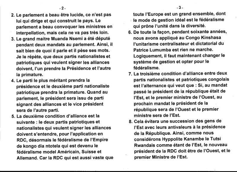 LE GRAND MAITRE MUANDA NSEMI PARLE DES CONDITIONS D'ALLIANCE b