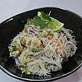 Poulet aux vermicelles à la Thaï