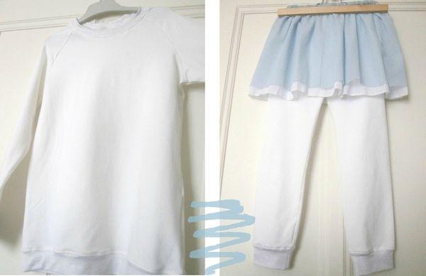 t shirt raglan, leggings et jupe résille 5