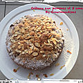 Gâteau aux pommes et 3 amandes ( 225 cal/ la part)