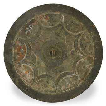 a_large_chinese_painted_bronze_mirror_han_dynasty_or_later_d5453848h