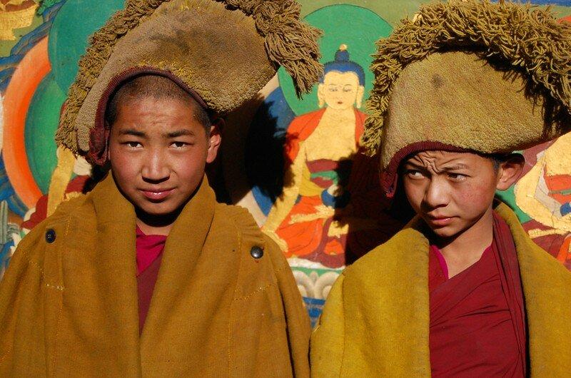 Deux jeune moines