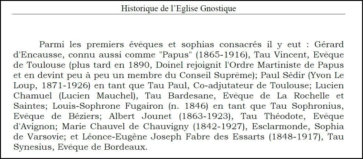 évêques gnostiques