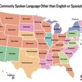 usa-Most commonly spoken language other than English or Spanish by US state