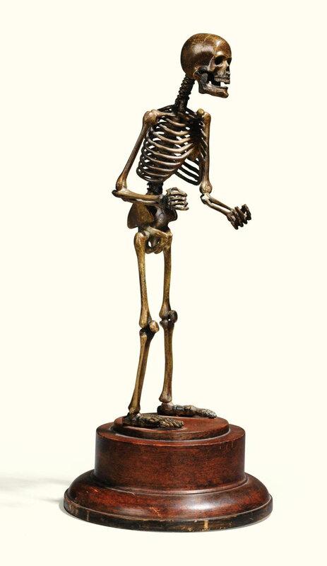 Squelette en bronze, XIXe siècle