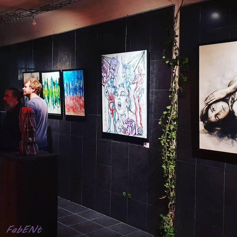 Entrée de la Galerie, Inauguration de la Galerie Point Carré