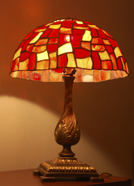 Lampe Tiffany rouge