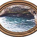 cadre ovale bois avec image