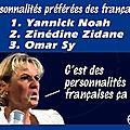 Classement des personnalités préférées des français. réaction de nadine morano...