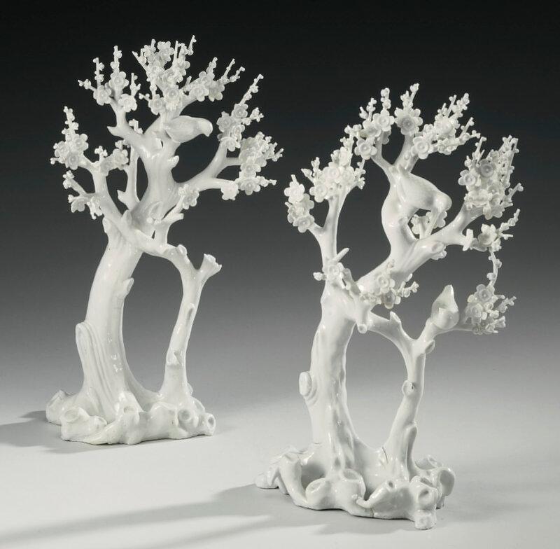 Two 'Dehua' trees, Qing dynasty, 18th century