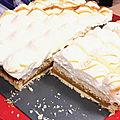 Tarte chantilly vanille et caramel beurre salé