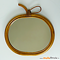 Déco vintage ... miroir pomme * bambou