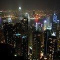 Vue de Hong Kong depuis le pic Victoria