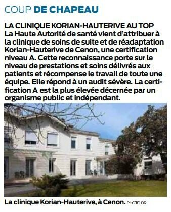 2018 01 23 SO Clinique Korian Hauterive à Cenon