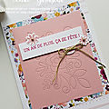 Carte make and take coin de broderie