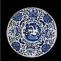 A chinese blue and white porcelain dutch market armorial charger, qing dynasty, kangxi period (1662-1722)