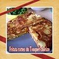 Fritata/omelette rattes du touquet & chorizo