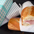 Jambon-beurre and a box