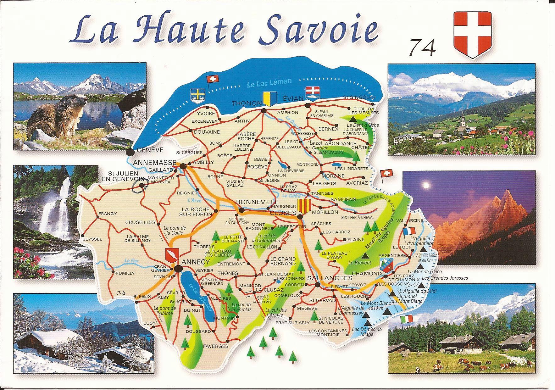haute savoie carte touristique 74 Haute Savoie   Dans ma boîte aux lettres (cartes postales de