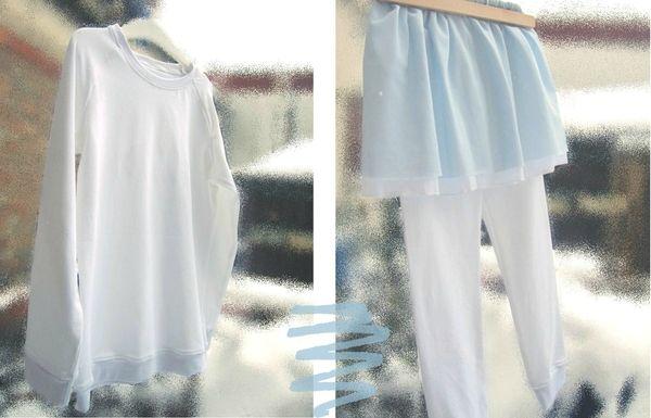 t shirt raglan, leggings et jupe résille 2