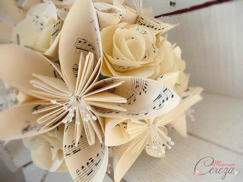mariage sur-mesure made in France bouquet mariee original partition musique mademoiselle cereza 1
