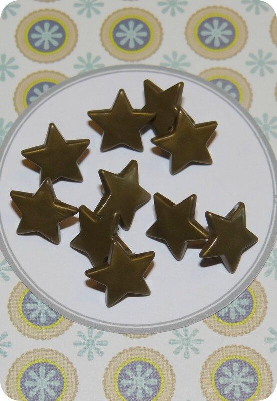 Bouton pression Kam : étoile bronze