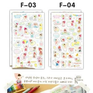 4 PLANCHES STICKERS PB 2