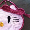 Sac Hello Kitty détails du visage